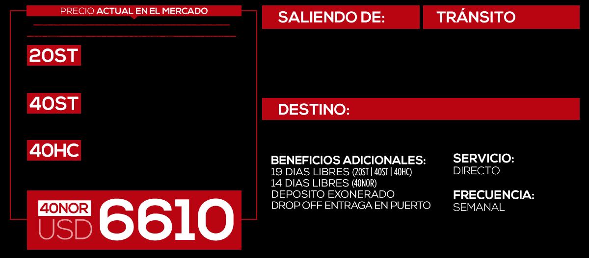 Tarifas | HT Line Agente de Carga Internacional | servicios Freight Forwarder | LCL | FCL | Carga Aérea | China Colombia Estados Unidos